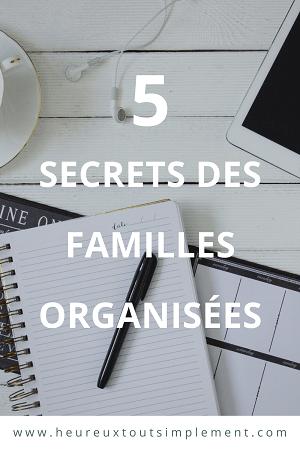 organiser la vie de famille