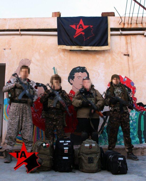 Команда военных парамедиков из «Анархистской борьбы» (Tekoşîna Anarşîst)