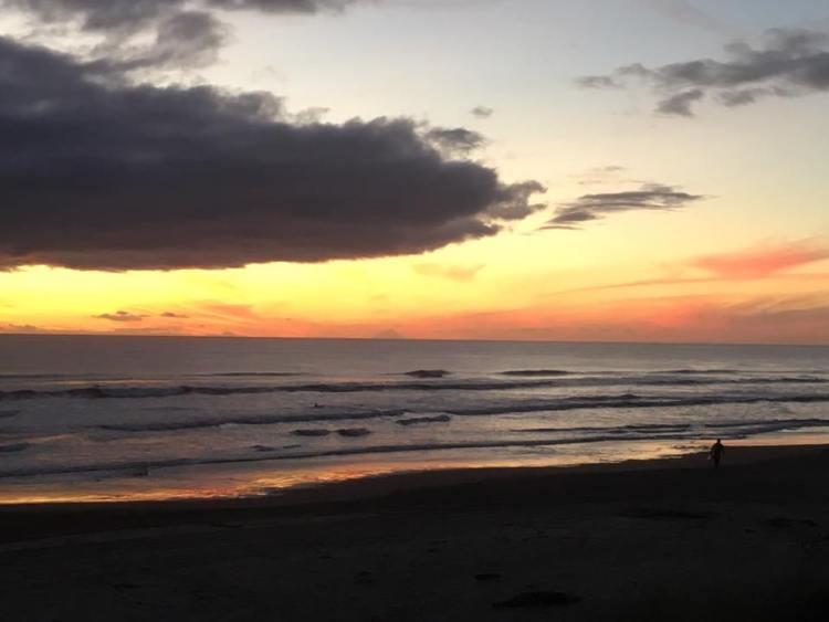 Sunset over Foxton Beach