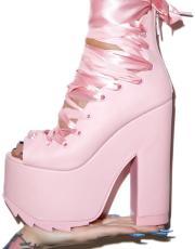 Y.R.U. & Dolls Kill Pink Ballet Bae Platforms