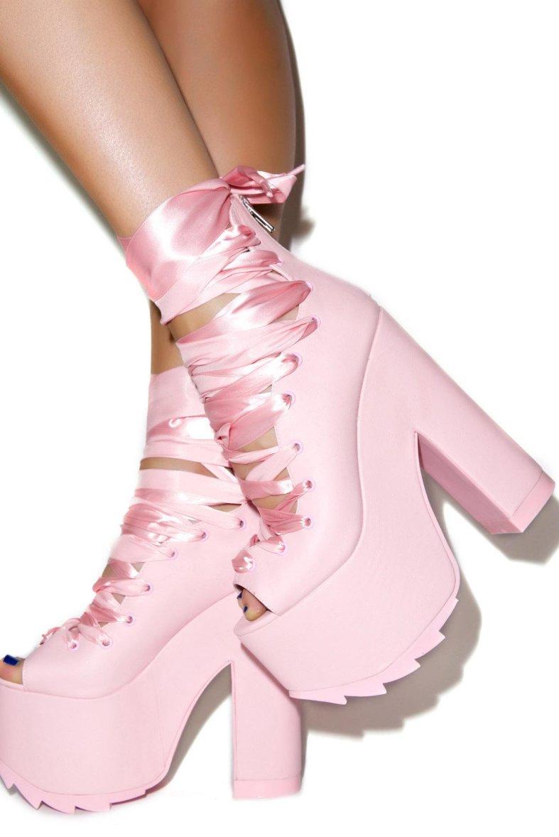 Y R U  & Dolls Kill Pink Ballet Bae Platforms » Hex Libris