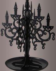 Black Chandelier Jewelry Stand