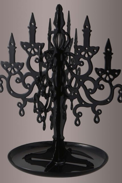 Black Chandelier Jewelry Stand