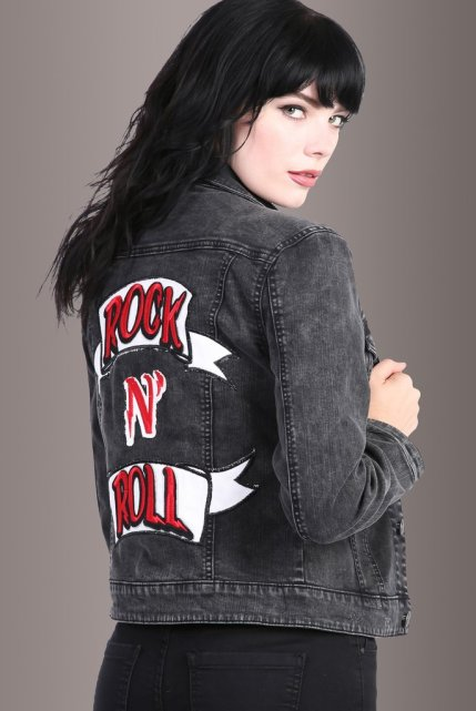 Rock n' Roll Patch Denim Jacket