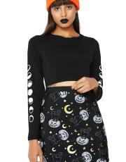 Too Fast Black Cat Skirt