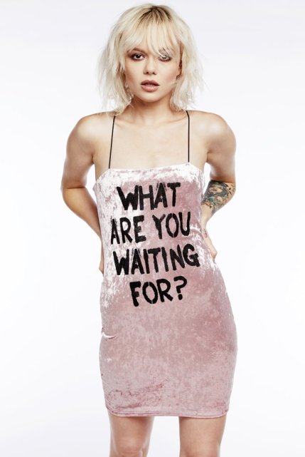 What R U Waiting For Bodycon Dress
