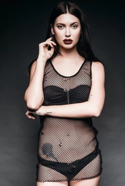 Black Widow Studded Fishnet Swim Coverup