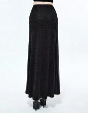 Devil Fashion Cross Velvet Skirt