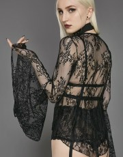 Widow Prayer Long Sleeved Lace Top