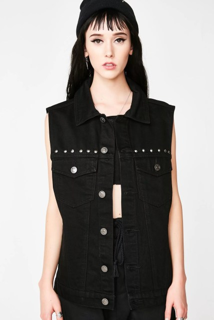 Killstar Hellcore Denim Vest