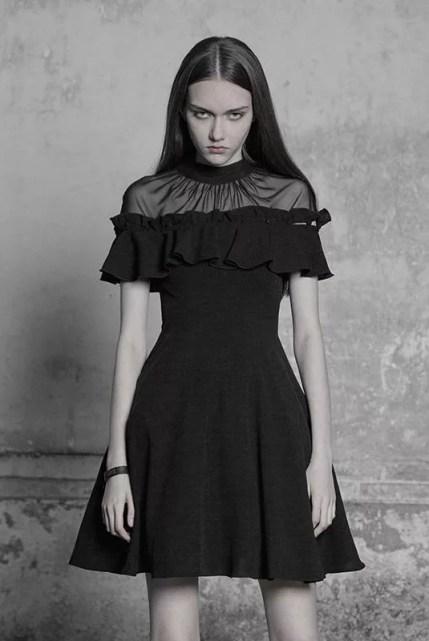 Punk Rave Detachable Frill Short Dress