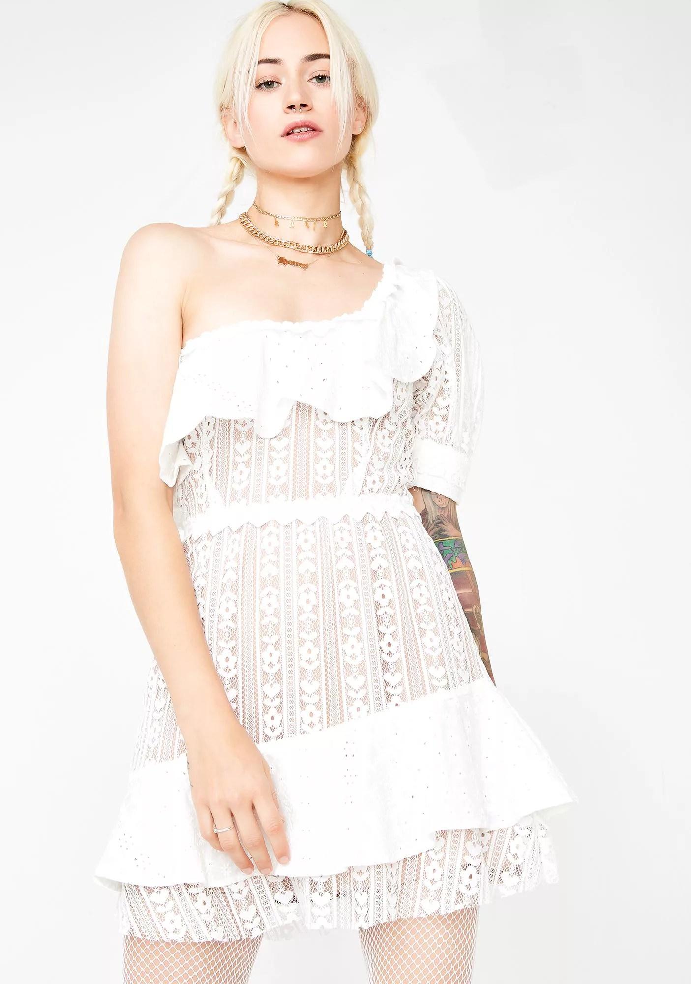 For Love Lemons Lovebird Lace Mini Dress Hex Libris