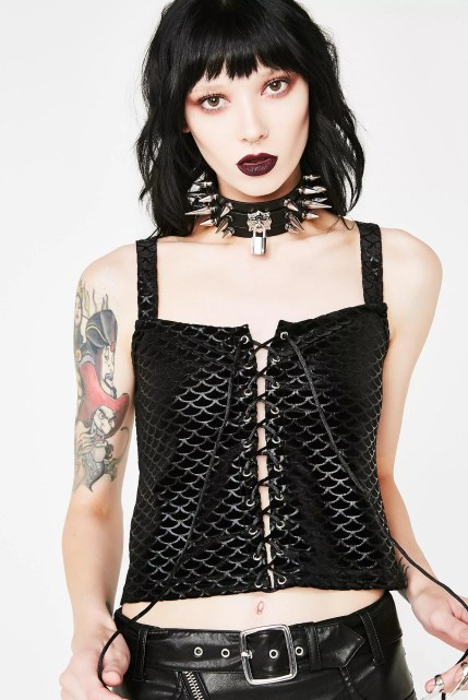 Killstar Black Sea Vest Top