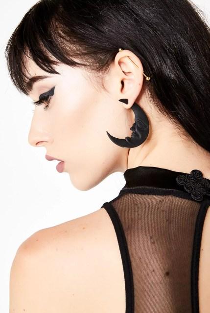 Killstar Crescent Moon Earrings