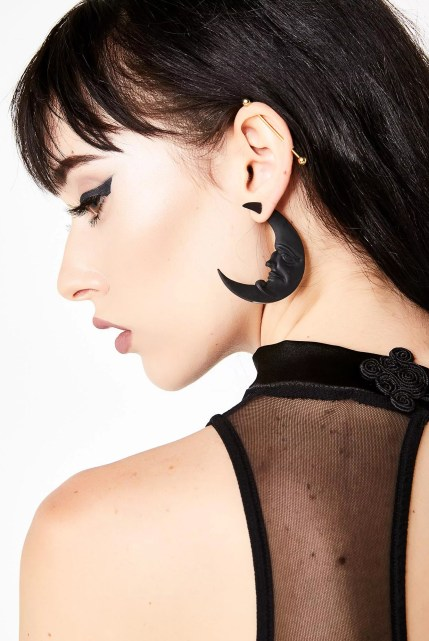 Killstar Crescent Moon Earrings