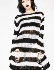 Killstar Pugsley Distressed Knit Sweater