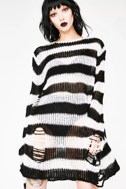 Killstar Pugsley Distressed Knit Sweater