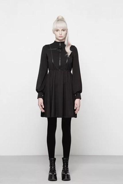 Punk Rave Doomed High Collar Goth Dress
