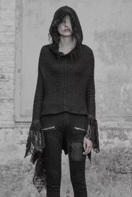 Punk Rave Fringed Lace Cardigan