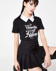 Halloween Dolls Kill Wednesday Addams Costume Tee
