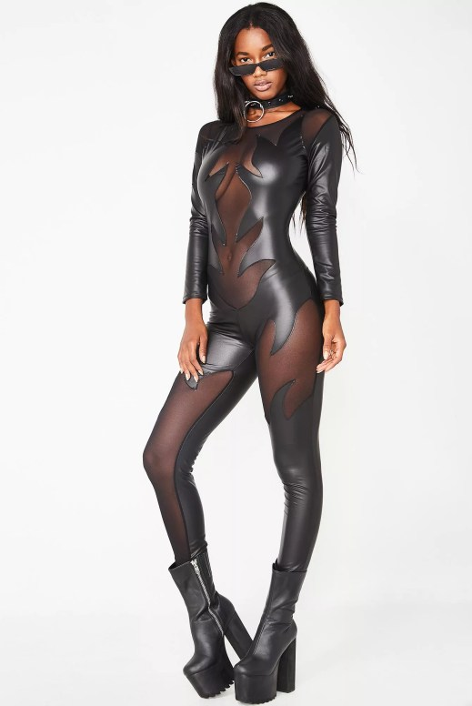 Halloween Evil Devil Woman Catsuit