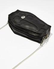 Halloween Leather Chain Strap Coffin Purse