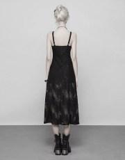 Punk Rave Lace Trim Midi Dress