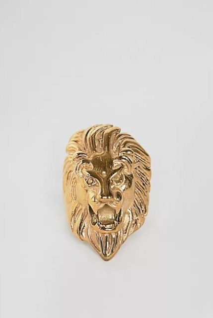 Regal Rose Anwar Lion Head Ring