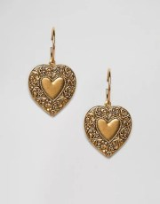 Regal Rose Lovestruck Heart Drop Hoop Earring