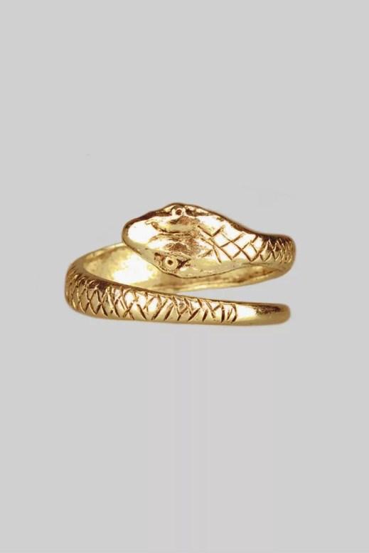 Regal Rose Lucifer Snake Ring