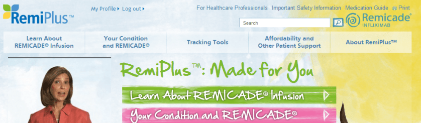 cropped view of Home page Remiplus