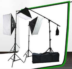 Fancierstudio Softbox Lighting Kit and Backdrop