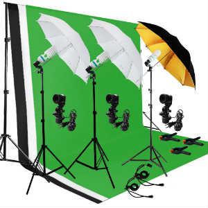 LusanaStudio Backdrop Kit With Umbrellas