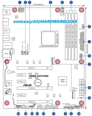 Asus X470 Motherboard manual shared on forum  Mainboard