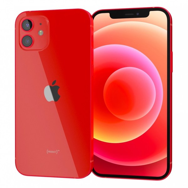 iPhone 12 red dupla angulo