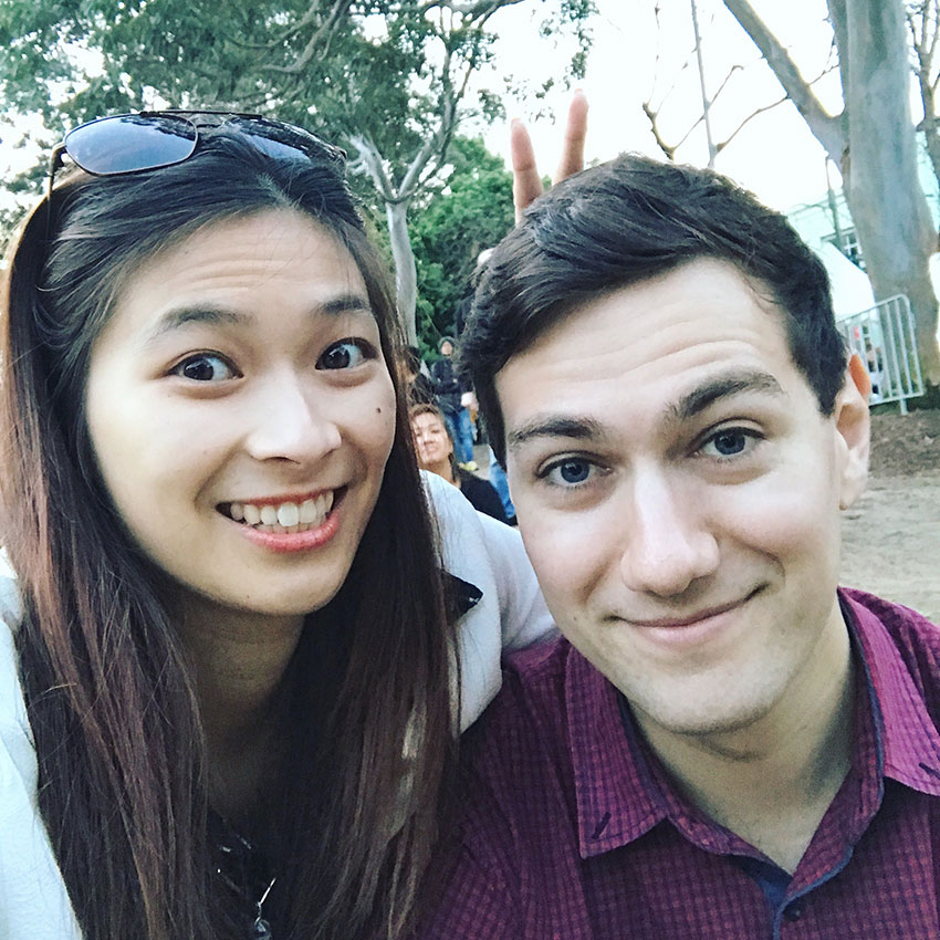 Me and Nick at Surry Hills Festival
