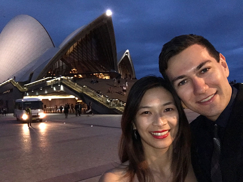 Me and Nick with the Sydney Opera House in the background