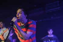 Pete singing into the microphone