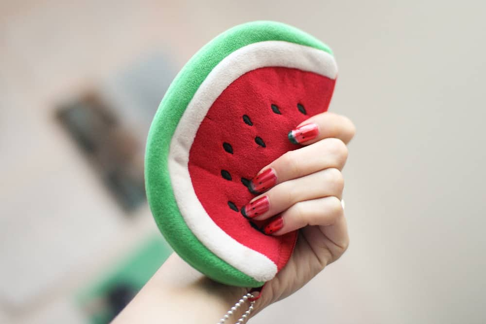 Watermelon-style nails & my watermelon purse