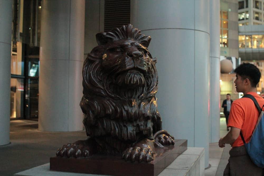 HSBC stone lion