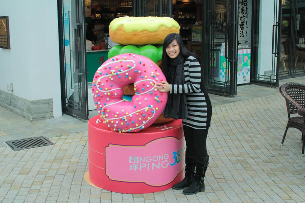 Me and a big donut