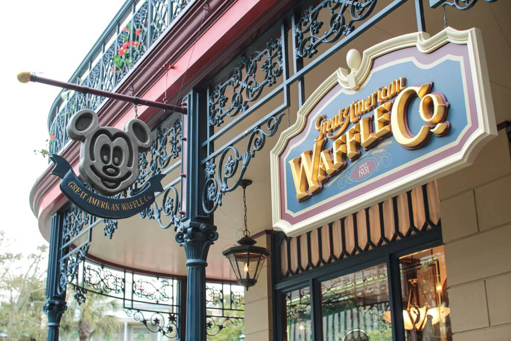 One of the various eateries inside. A waffle shop
