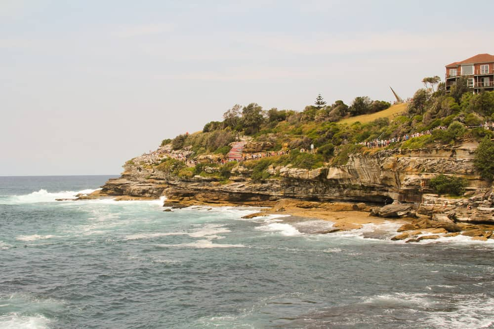 A view of the cliffs