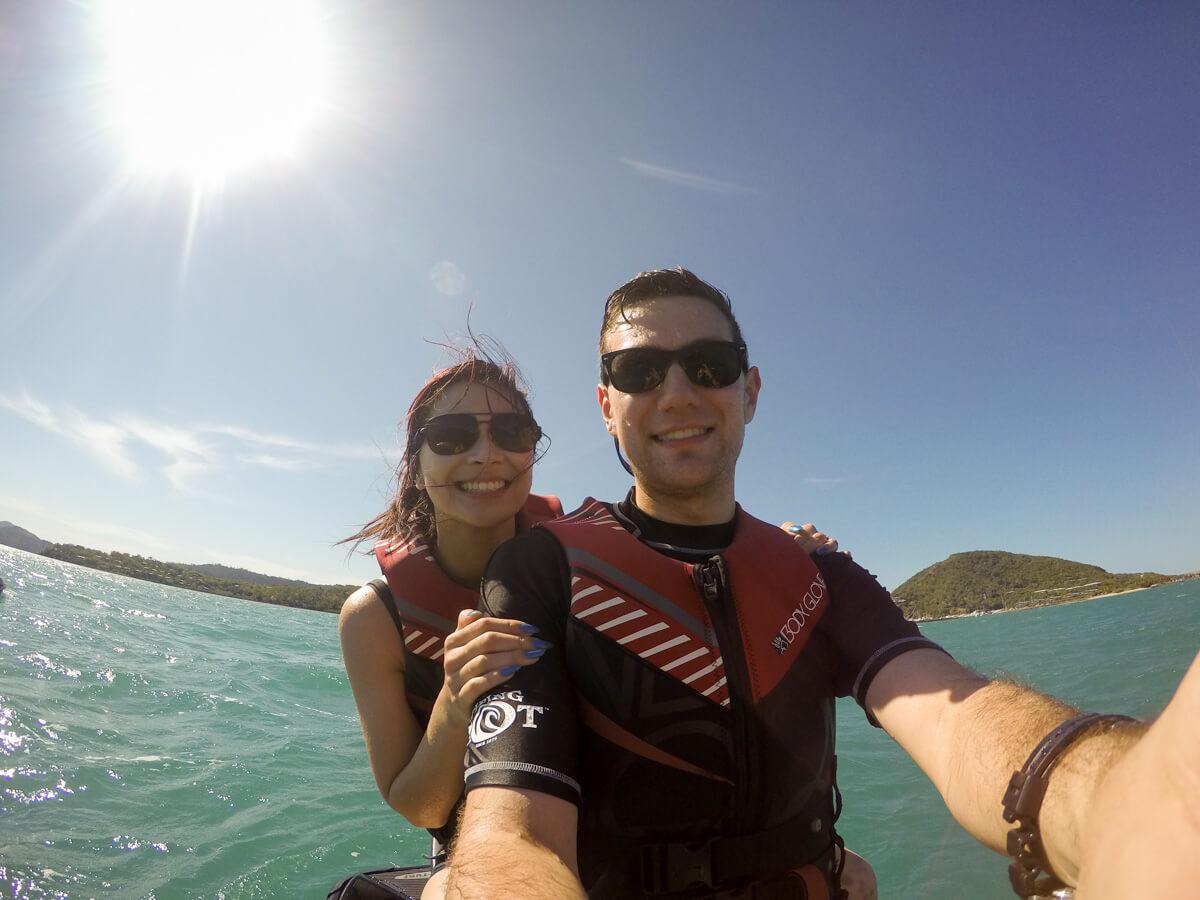 Me and Nick on a jet ski in Hamilton Island
