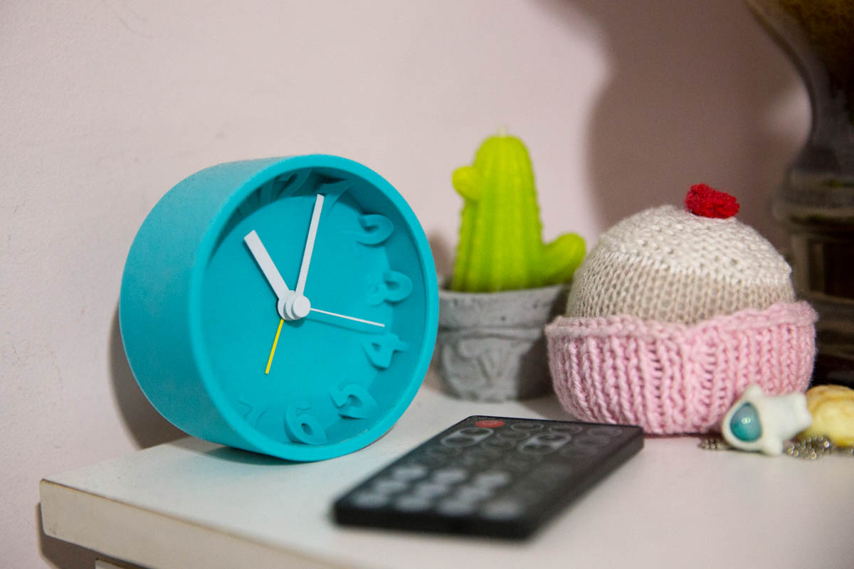 My teal clock!