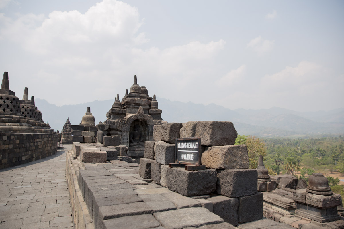 A view over one of the levels of the temple