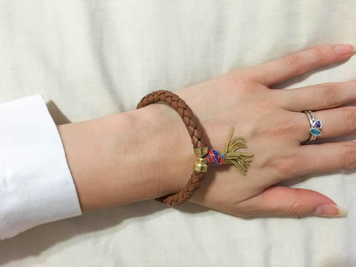 The bracelet on my wrist