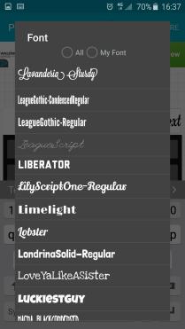 Select font