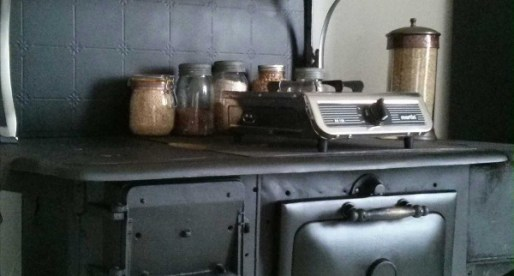 The final look, antique stove refinished