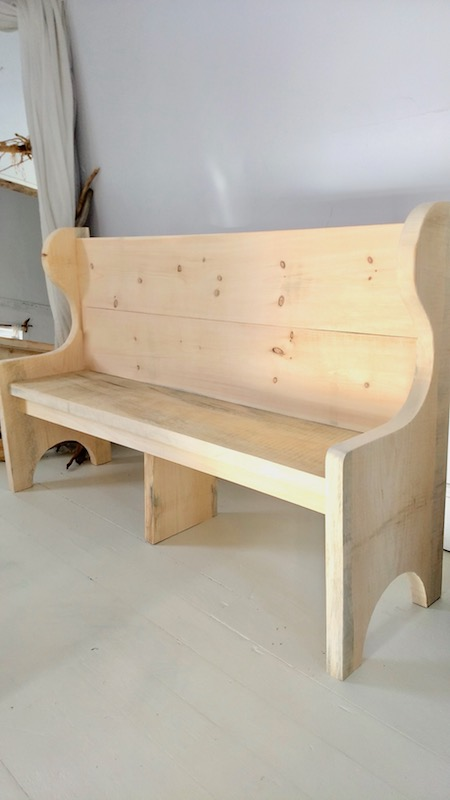 5 Foot Unfinished Church Pew